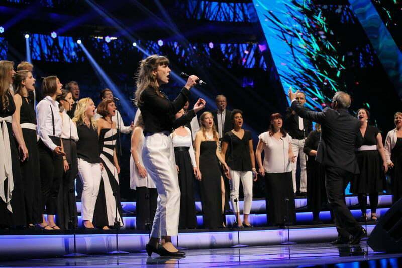 Evrovizijski zbor leta 2017 ... (Foto: Ojārs Jansons in Reinis Rudzitis / EBU)