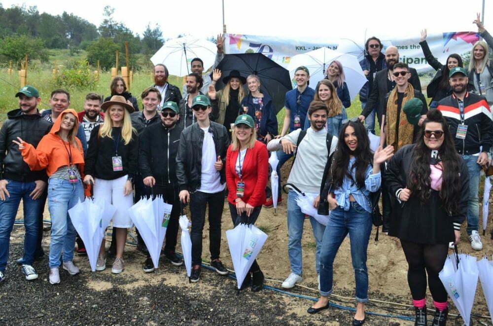 Predzadnji dan so se glasbeniki odpravili v predsedniški gozd. (Foto: Alesh Maatko)