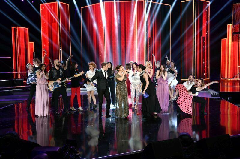 Beovizija 2019 (šov program): Emilija Kokić z gosti (Rock me). (Foto: RTS)