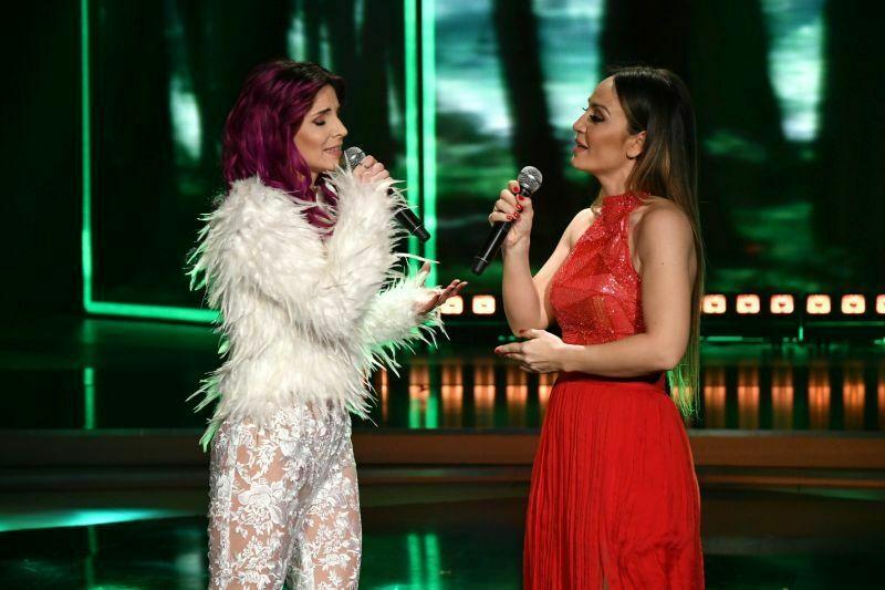 Beovizija 2019 (šov program): Lea Sirk in Jelena Tomašević - Amar pelos dios. (Foto: RTS)