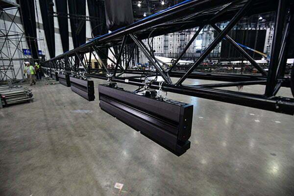 278 luči bo nameščenih nad občinstvom. (Foto: m-m-pr.com / Ola Melzig)